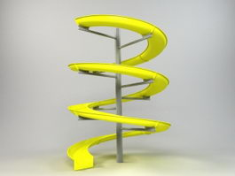 Spiral Water Slide 3d preview