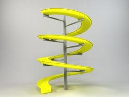 Spiral Water Slide 3d model