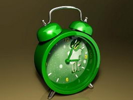 Classic Green Alarm Clock 3d model