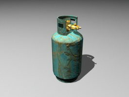 LP Gas Cylinder 3d model