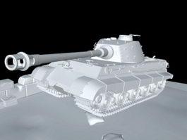 King Tiger Tank WWII 3d model