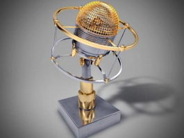 Music Microphone with Stand 3d model