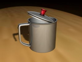Stainless Steel Drinking Cup 3d model