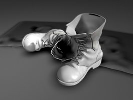 Men's Fashion Boots 3d model