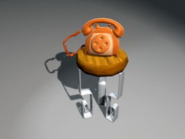 Cartoon Telephone 3d model