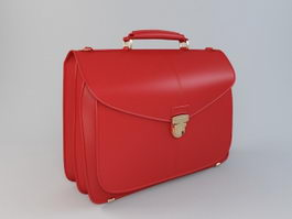 Red Briefcase 3d model