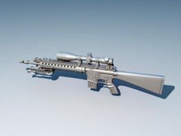 Mk 12 Special Purpose Rifle 3d model