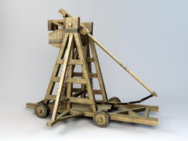 Medieval Trebuchet 3d preview