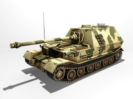 Elefant Panzerjager Tiger Tank Destroyer 3d model