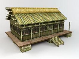 Ancient Folk House 3d model