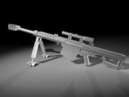 Barrett XM109 AMR 3d model