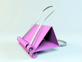 Office Binder Clip 3d model