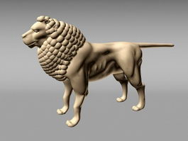 Ancient Lion Sculpture 3d model