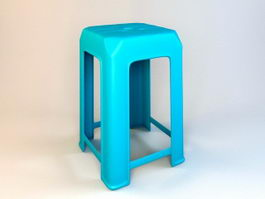 Plastic Stool Seat 3d model