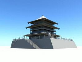 Bell Tower of Xi'an 3d model