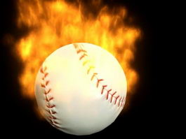 Fire Baseball 3d model