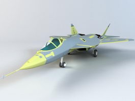 Russian Sukhoi T-50 Fighter Aircraft 3d model