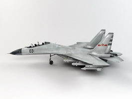 Sukhoi Su-27 Flanker Multirole Fighter 3d model