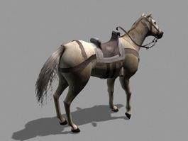 Medieval War Horse 3d model