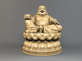 Statue of Budai 3d model