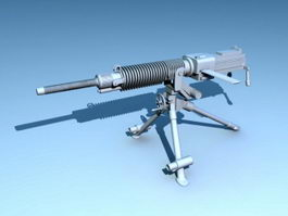 Type 92 Heavy Machine Gun 3d preview