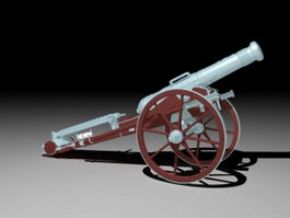 Civil War Artillery 3d model