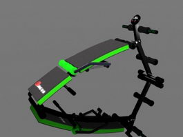 Animated Sit Up Bench 3d model
