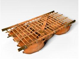 Sheepskin Raft 3d model