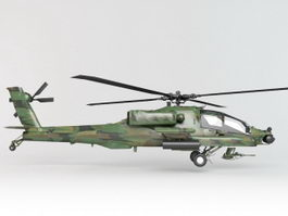 Army Apache Helicopter 3d model