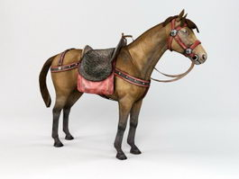 War Horse with Saddle 3d preview