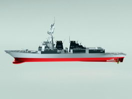 NRP Afonso de Albuquerque Warship 3d model