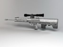 Chinese QBU-88 Sniper Rifle 3d model