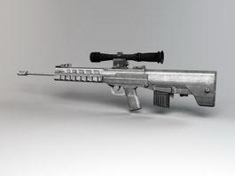 Chinese QBU-88 Sniper Rifle 3d preview
