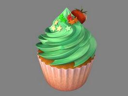 Fancy Cupcake 3d model