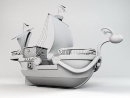 Going Merry Pirate Ship 3d model