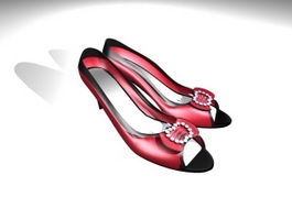 Short Heel Pumps 3d model