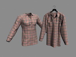Plaid Shirts 3d model