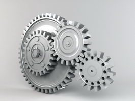 Arrangement Of Gears 3d model