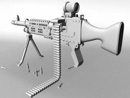 Light Machine Gun 3d model