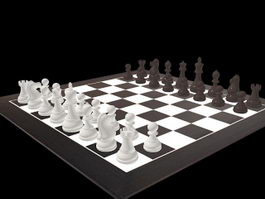 Chess Game 3d model