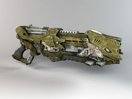 Alien Blaster Gun 3d preview
