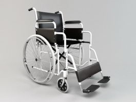 Folding Wheelchair 3d preview