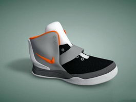 Nike Hyperdunk Basketball Shoe 3d model