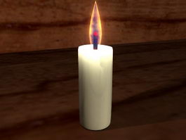 Animated Candle Flame 3d model