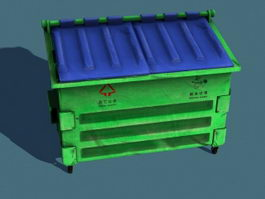 City Waste Container 3d model