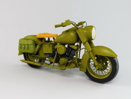 Army Motorcycle 3d model
