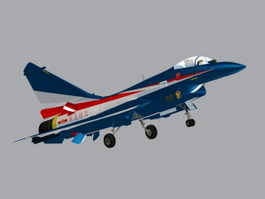 PLAAF J-10B Fighter Jet 3d model