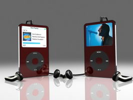 iPod Portable Media Player 3d model