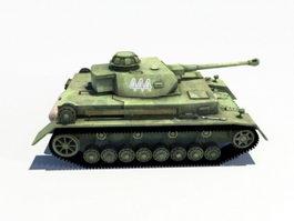 Panzerkampfwagen IV Ausf.F2 Tank 3d model