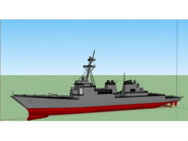 DDG-51 Missile Destroyer 3d model